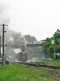 会津坂下発車